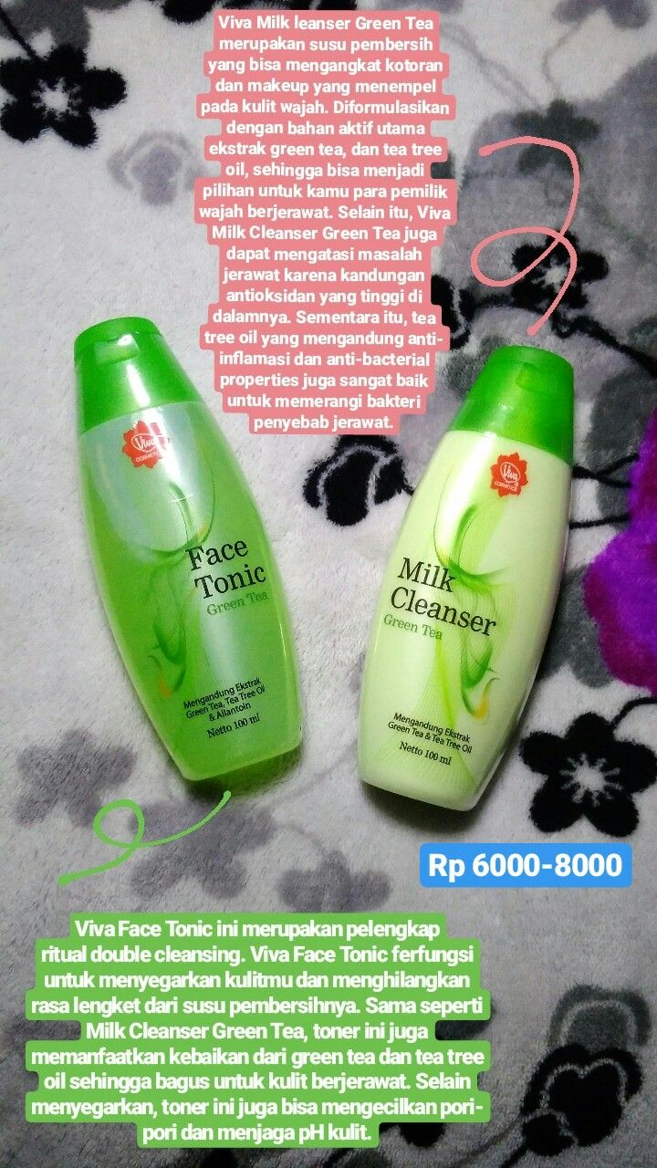 Viva Milk Cleanser Green Tea Untuk Jerawat