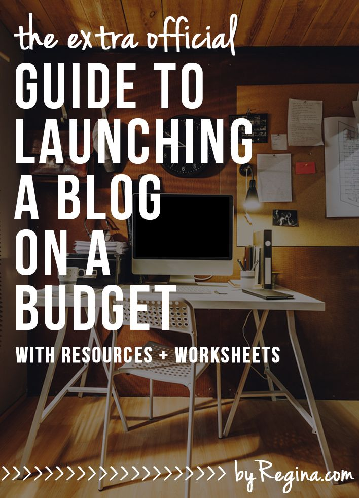 The Official Guide to Launching a Blog on a Budget. This guide addresses 10 areas to help you plan, create, and launch your blog without spending a ton of money. The guide is intense, so get ready!