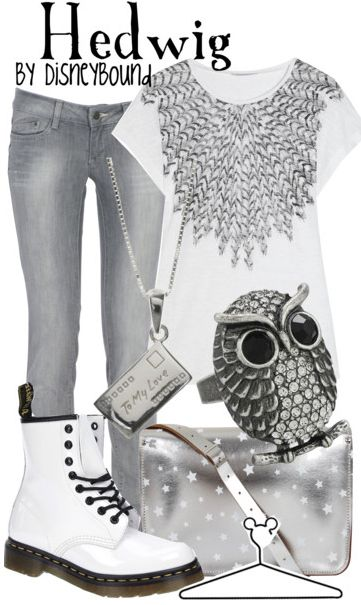Hedwig :): Shoes, Inspiration Outfits, Disney Outfits, Dreams Closet, Harry Potter Disneybound, Character Inspiration, Owl, Disney Bound, Hedwig