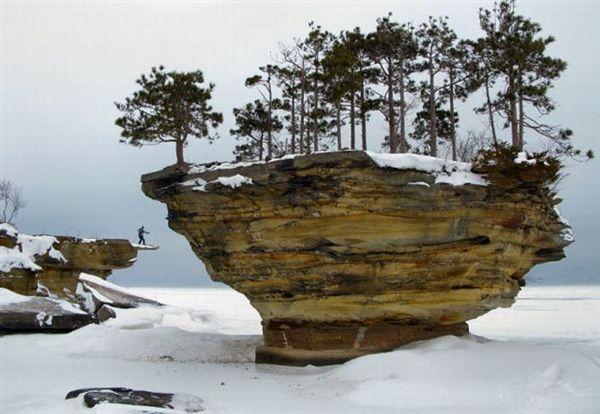 Lake Huron Michigan.  Turnip_Rock_16  Can you find Waldo in this Picture?????