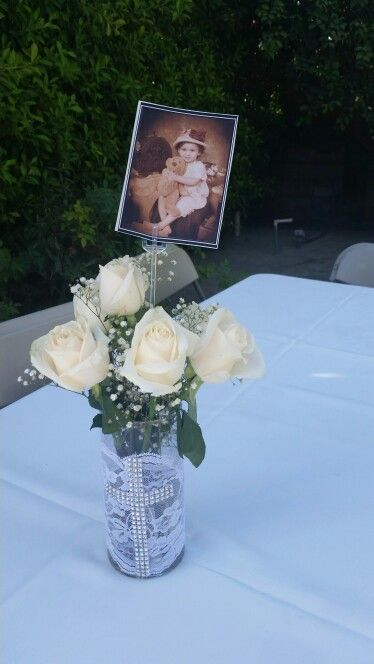 Best ideas about baptism centerpieces on pinterest