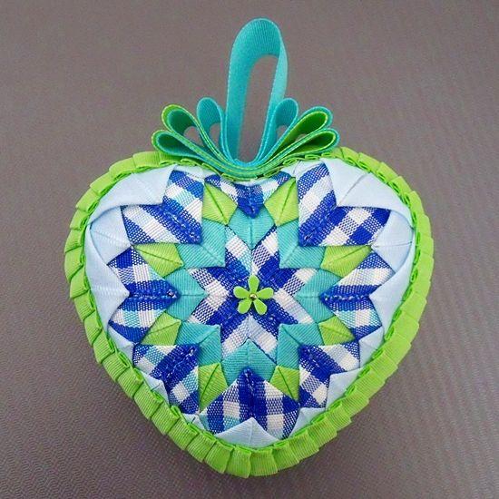 Falešný patchwork - srdce, návod