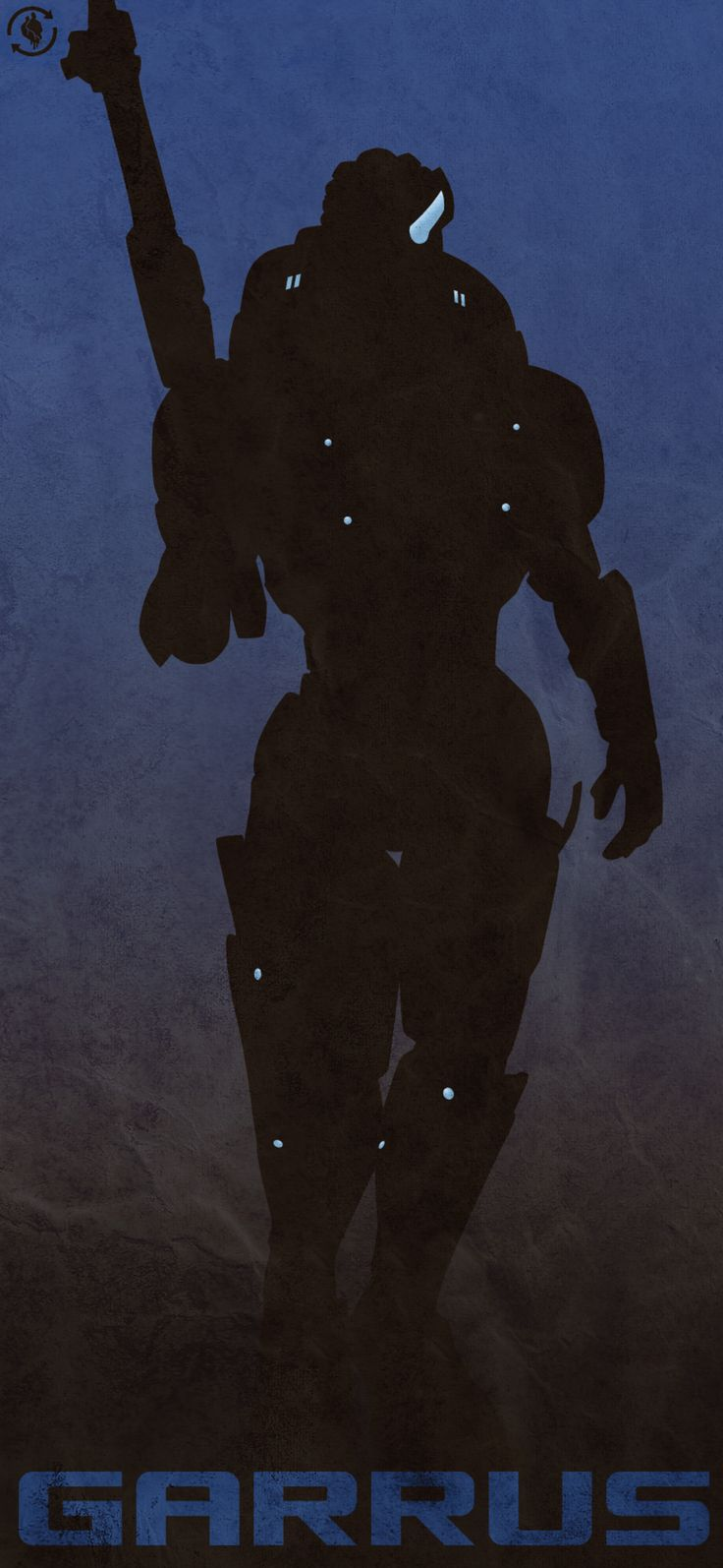 Epic Garrus silhouette graphic, I wish I had a print of this.