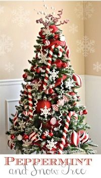 Peppermint and Snow Christmas Tree- Michael's Dream Tree Challenge {U Create (2012)}