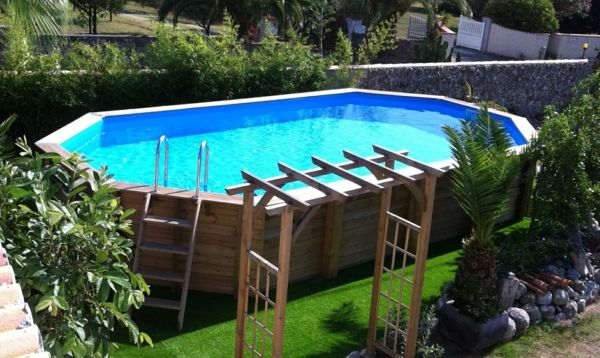 25 best ideas about piscine hors sol on pinterest swimming pool steps petite piscine and - Piscine hors sol amenagee ...