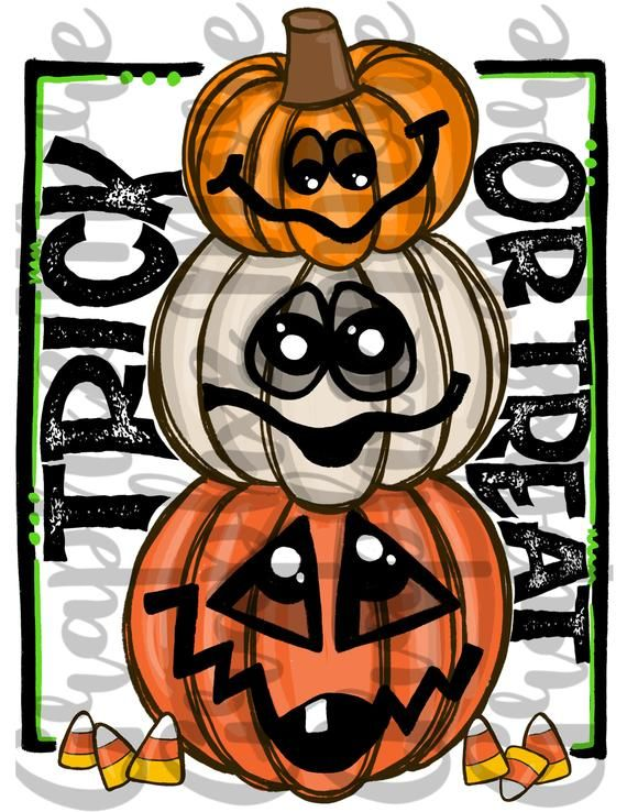 Trick Or Treat Pumpkin Stack Png Hand Drawn Sublimation Etsy Stacked Pumpkins How To Draw Hands Trick Or Treat