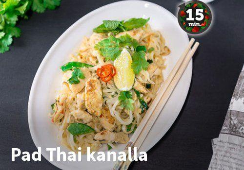 Pad Thai kanalla Resepti: Kariniemen #kauppahalli24 #ruoka #resepti