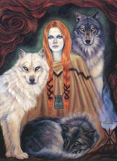 Skadi, the Norse goddess of winter, archery and wolves