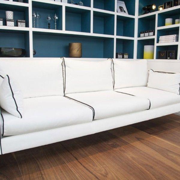 Touches of Bleu Sarah behind the Noa Sofa - Sarah Lavoine boutique