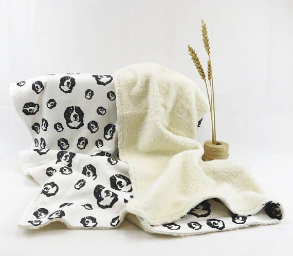 Bernese Mountain Dog Organic Plush And Organic Cotton Baby