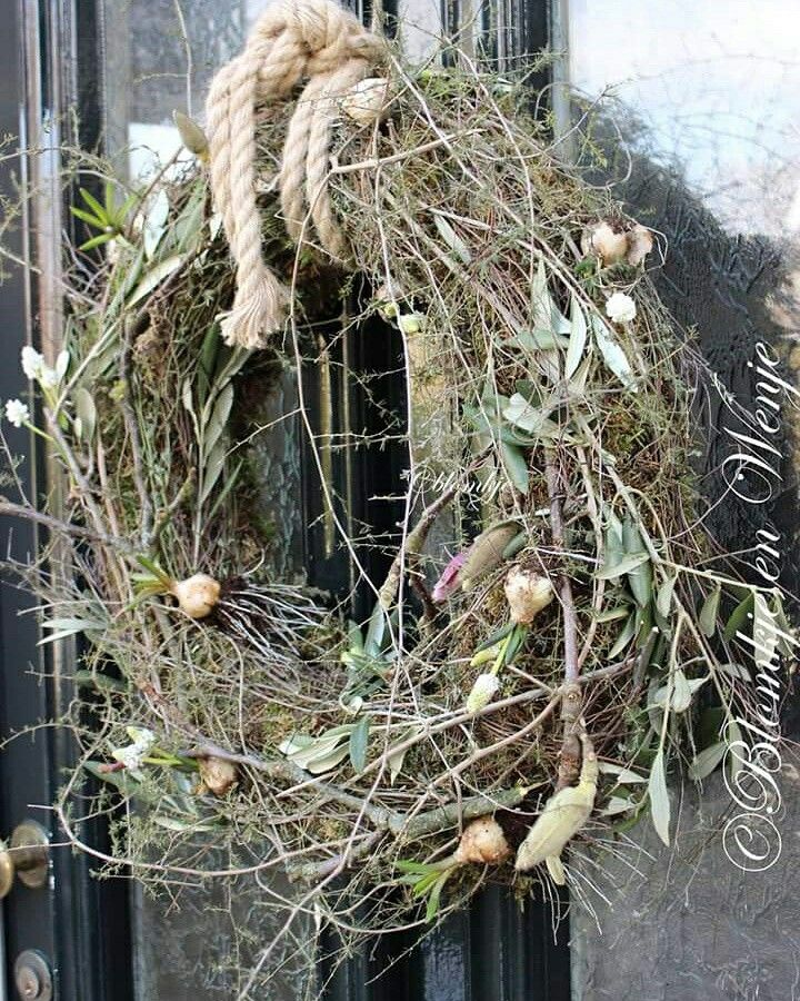 #wreath #krans #kranz #stoer #sober #landelijk #blomkjeenwenje