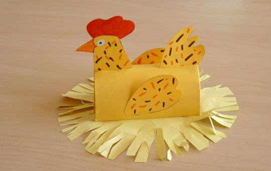 Poule de Pâques - Découpage à imprimer pour un bricolage facile et rigolo  par Rachel, le 17 mars 2010