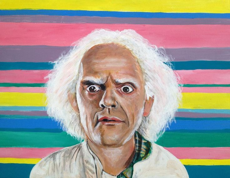 Doctor Emmett Brown from Back to the Future by ~ckrickett