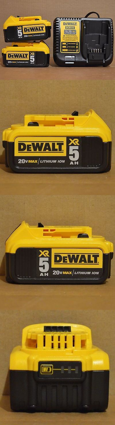 tools: Dewalt 2 Dcb205 20V 5Ah Max Li-Ion Battery, Dcb115 Charger For Drill Saw Grinder BUY IT NOW ONLY: $142.99