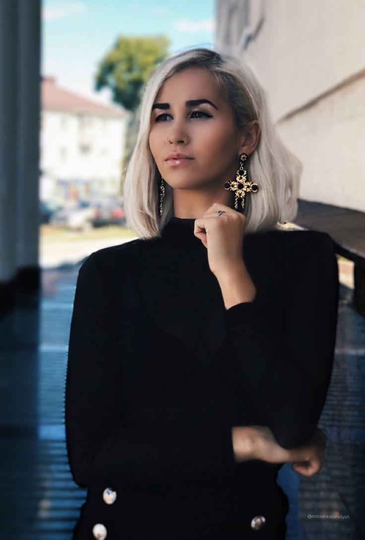 Black outfit Street fashion