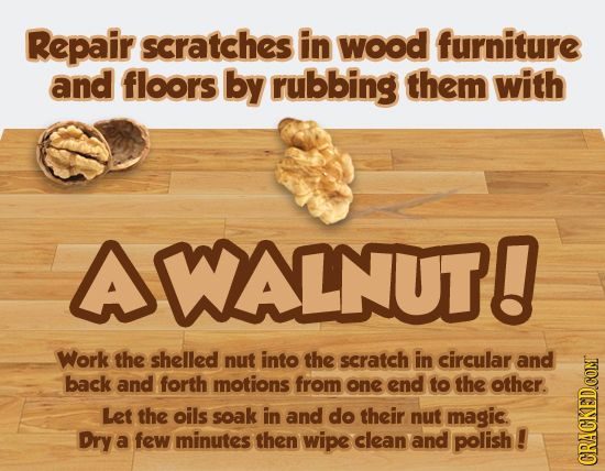 20 MacGyver Style Repairs That Totally Work | Cracked.com. Repair Scratched  WoodWood FurnitureLife ...