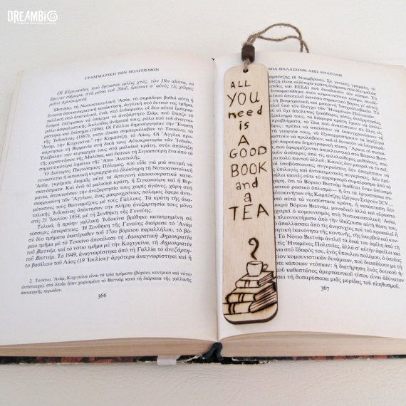 Bookmark wood burned bookmark Pyrography All by DreamBigHandmade