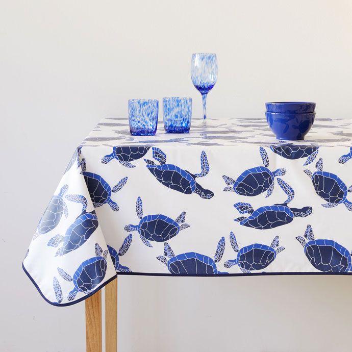 Mantel plastificado  estampado tortuga azul - Manteles y Servilletas - Mesa | Zara Home España