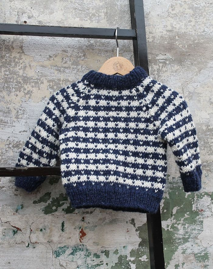 Retro sweater baby strikkekit