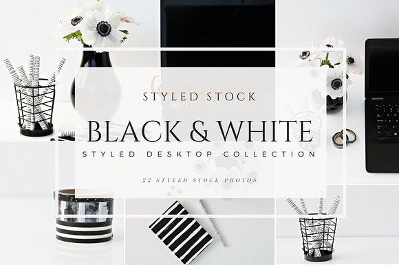 Styled Desktop Black & White - Instagram
