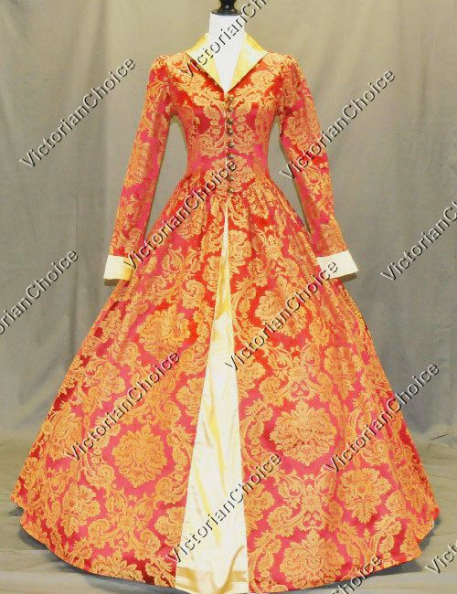 Queen Renaissance Dress Gothic Theater Reenactment Costume Gown Steampunk 162 #VictorianChoice #Dress