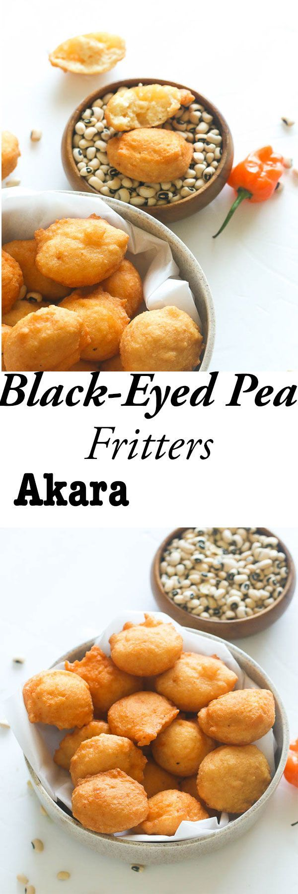 Fritters made with fresh black eyed peas , onions, hot pepper ...