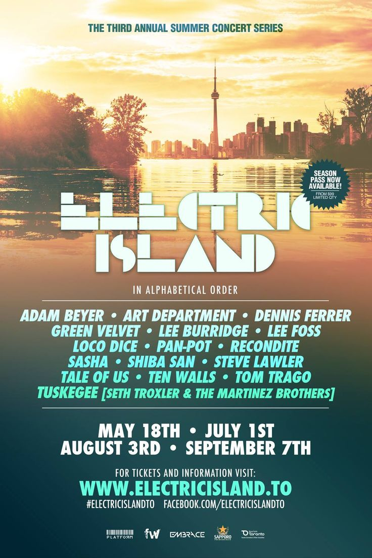 Electric+Island+TO+announces+2015+season