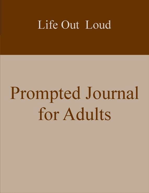 Life Out Loud Prompted Journal for Adults  Great by LaCartaPapier  #etsy #journal #writing #prompts