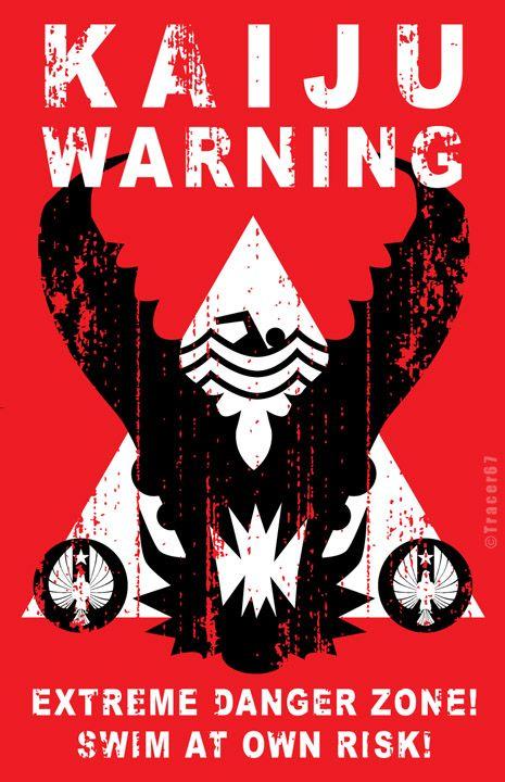 Kaiju Warning Sign by Tracer67.deviantart.com on @deviantART
