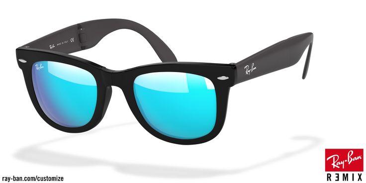 Look who's looking at this new Ray-Ban  wayfarer folding sunglasses