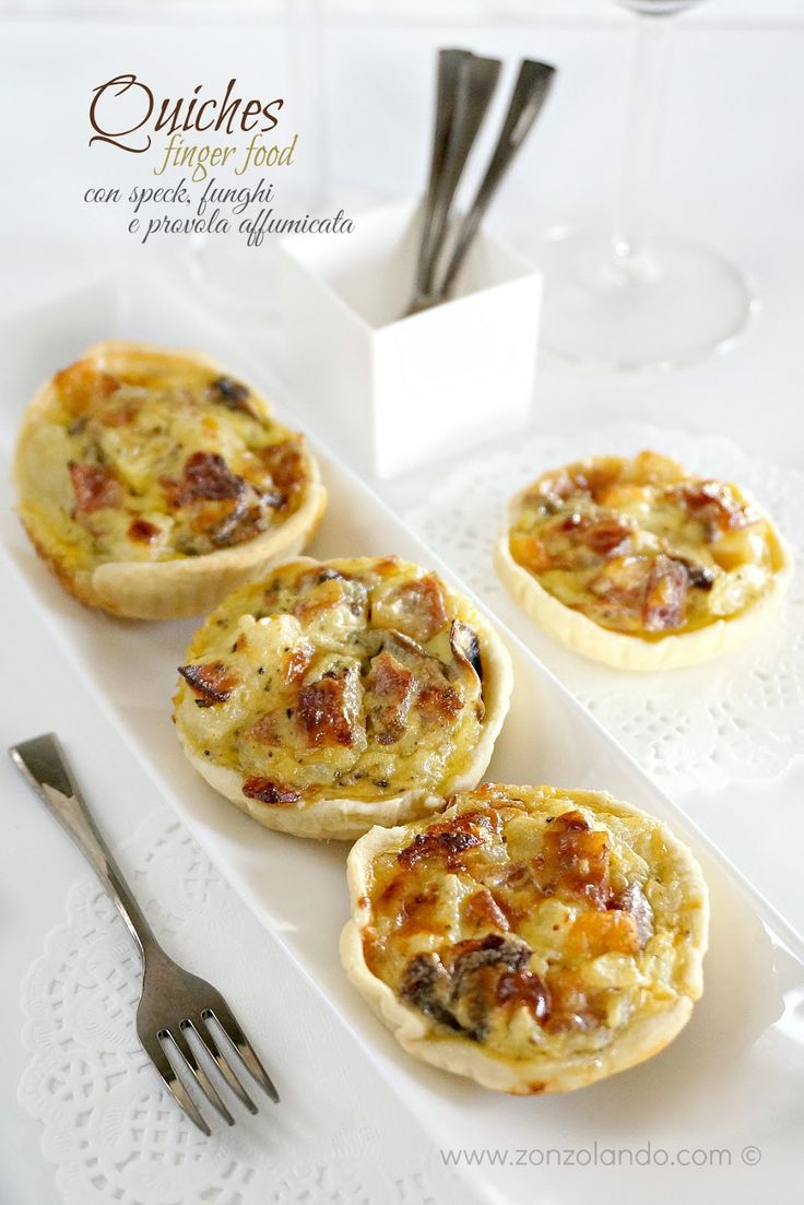 Quiche con speck, funghi e provola affumicata - Mushroom and cheese tart | From Zonzolando.com