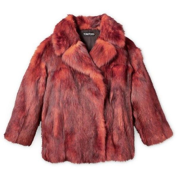 OVERSIZED FUR PEACOAT (959.670 RUB) ❤ liked on Polyvore featuring outerwear, coats, fur peacoat, red coat, red peacoat, pea jacket and fur coat
