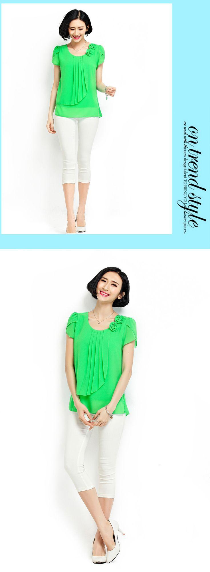 Blusa de chiffon 2016 verão tops mulheres camisas Blusas soltas Casual O Neck manga Curta camisa blusas plus size blusas feminina 4XL em Blusas & Camisas de Das mulheres Roupas & Acessórios no AliExpress.com | Alibaba Group