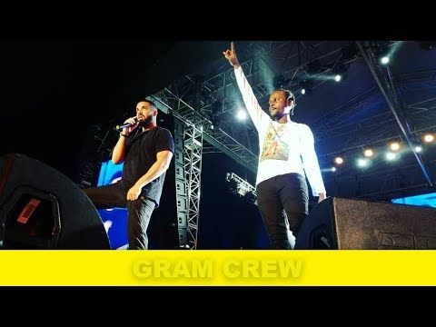 Popcaan and Drake at Unruly Fest Full Drake Signs Popcaan