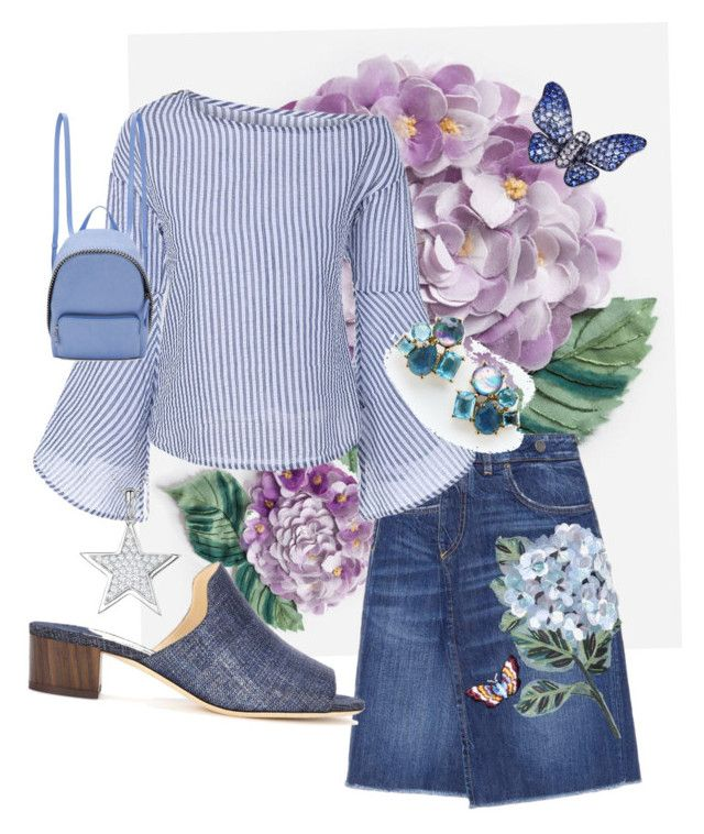 """""""Flowers and butterflies"""" by blumbeeno on Polyvore featuring Dolce&Gabbana, Ippolita, Jimmy Choo, STELLA McCARTNEY, Jools by Jenny Brown and La Fleur Jewels"""