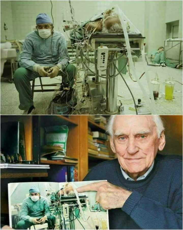 في الصورة الأولى جلس هذا الدكتور يتابع حالة مريضه بعد عملية زراعة قلب استغرقت 23 ساعة وتظهر Heart Transplant How To Fall Asleep Faith In Humanity Restored
