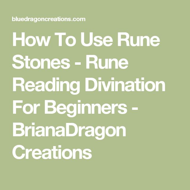 How To Use Rune Stones - Rune Reading Divination For Beginners - BrianaDragon Creations