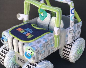 SALE girl jeep diaper cake diaper cake baby shower