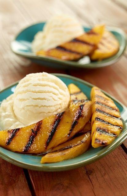 Grilled mangos and ice cream ...yum!