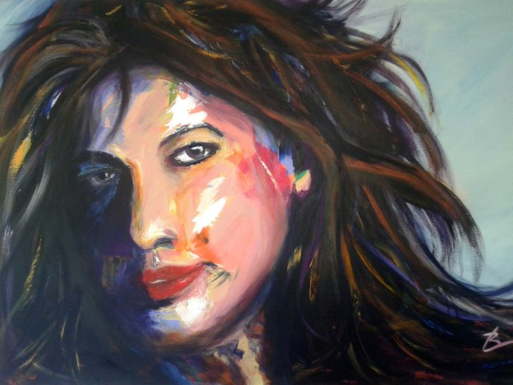 Ruby Lips, Private Collection, painting by Blair Logan.