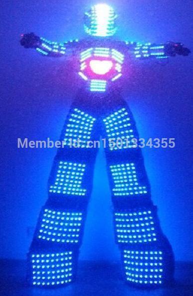 LED Costume logo design /LED Clothing/Light Costume suits/ LED Robot suits/ ALEXANDER robot