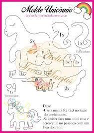 Resultado de imagen para molde unicornio em feltro