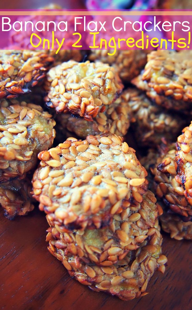 Banana Flax Crackers Made With Only 2 Ingredients! Taste Like Banana Bread! :)