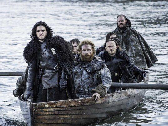 Jon Snow and Tormund go to Hardhome game of thrones