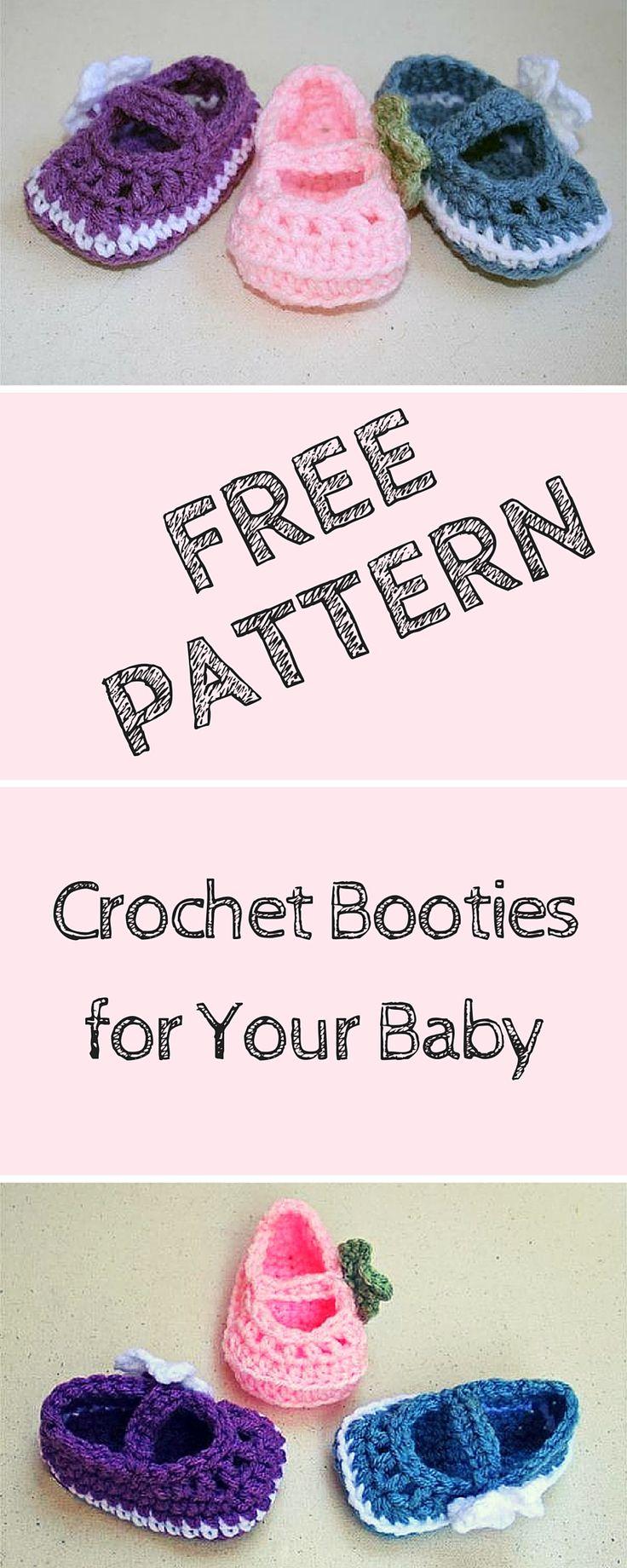 1039 best baby crochet booties 3 images on Pinterest | Crochet baby ...