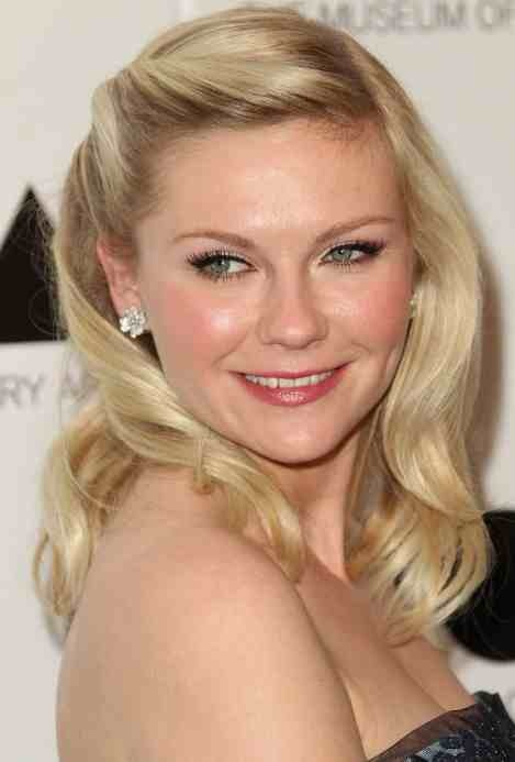 Retro hair, Kirsten Dunst. I have been doing this a lot lately