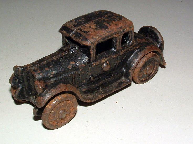 1920's Arcade Cast Iron Automobile Roadster Car Vehicle - Vintage Antique Toy! #Arcade