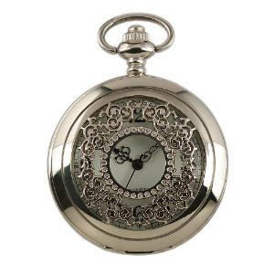 Youyoupifa New Mens Stainless Steel Case White Dial Antique Pocket Watch with Chain NBW0PO7092-SI3 Youyoupifa. $8.16