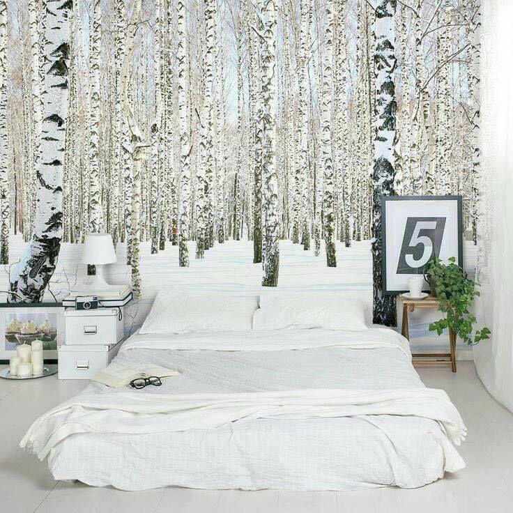 Dormitor cu design diferit / pictura direct pe perete!