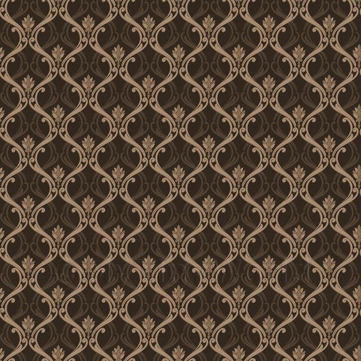 Dolls House Miniature Brown Classic Wallpaper Design